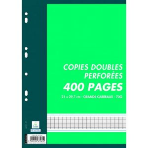 PAQUET 400 PAGES COPIES DOUBLES A4 SEYES