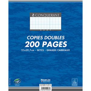 PAQUET 200 PAGES COPIES DOUBLES A4 SEYES