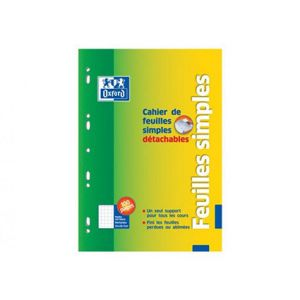 CAHIER 100 PAGES FEUILLETS MOBILES A4