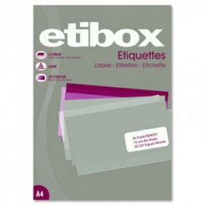 ETIQUETTE A4 X 800 105X72MM ETIBOX BLANC