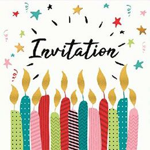 SACHET 5 CARTES INVITATION ANNIVERSAIRE