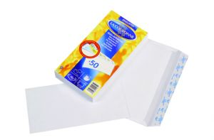PAQUET 50 ENVELOPPES BLANCHES 110X220MM