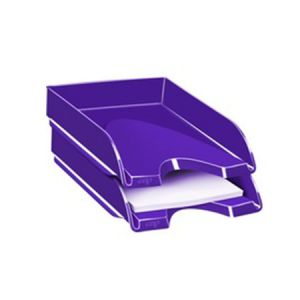 CORBEILLE COURRIER CEPPRO GLOSSY VIOLET