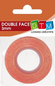 ADHESIF DOUBLE FACE 3MMX5M ROUGE