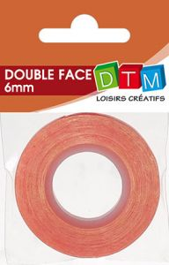 ADHESIF DOUBLE FACE 6MMX5M ROUGE