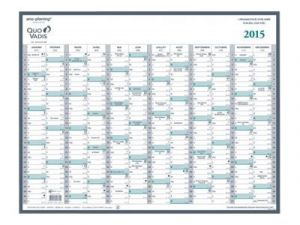 CALENDRIER 12 MOIS MANAGER 55X43