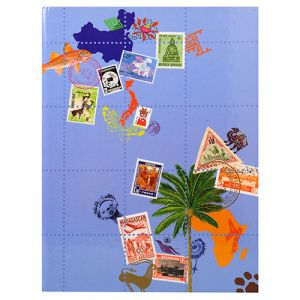 ALBUM TIMBRES 16 PAGES GLOBE TROTTER