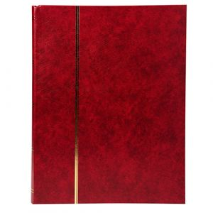 ALBUM TIMBRES 16 PAGES SIMILI CUIR ROUGE
