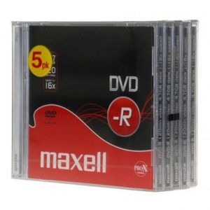 PACK 5 DVD-R 120MN 4.7GO 16X MAXELL