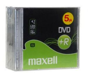PACK 5 DVD+R 120MN 4.7GO 16X MAXELL