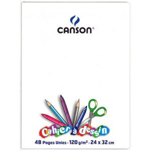CAHIER DESSIN 24X32 48P POLYPRO INCOLORE