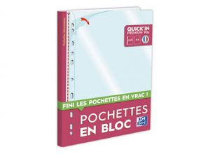 BLOC 40 POCHETTES PERFOREES A4 OXFORD