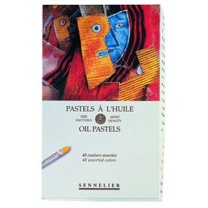 BOITE 48 PASTELS A L'HUILE SENNELIER