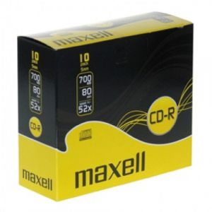 PACK 10 CD-R 80MN 700MO 52X MAXELL