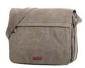 BESACE HOMME 37*28*8 CANVAS SABLE