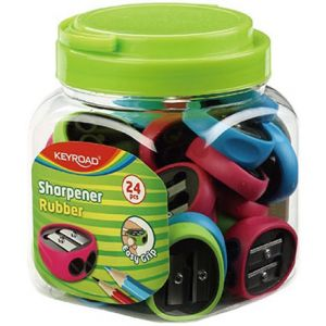 TAILLE CRAYONS 2 USAGES KEYROAD RUBBER