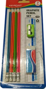 BLISTER 4 CRAYONS PAPIER  FLUO KEYROAD +