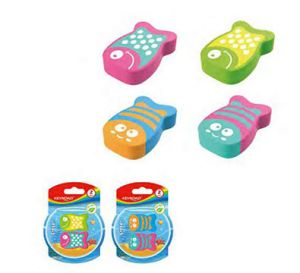 BLISTER 2 GOMMES KEYROAD FUNNY FISH