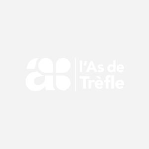 PORTE BLOC A4+ A PINCE PVC BLEU